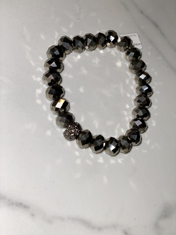 Silver Sparkle Beaded Bracelet
