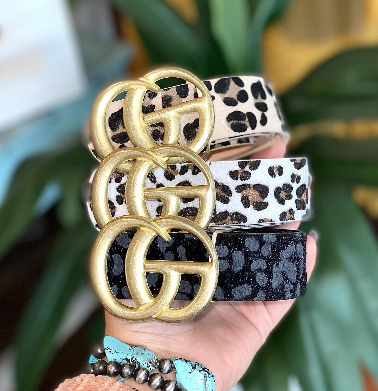 Cheetah Print CG Belt