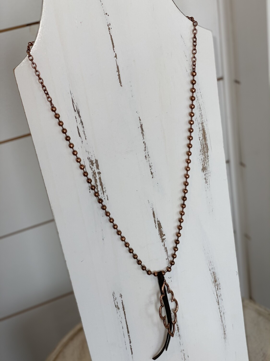 Copper Ball Chain Necklace