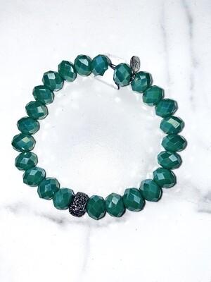 Turquoise Sparkle Beaded Bracelets