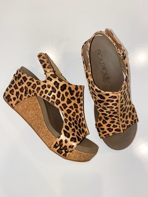 Corky's Gold Leopard Carley Wedge