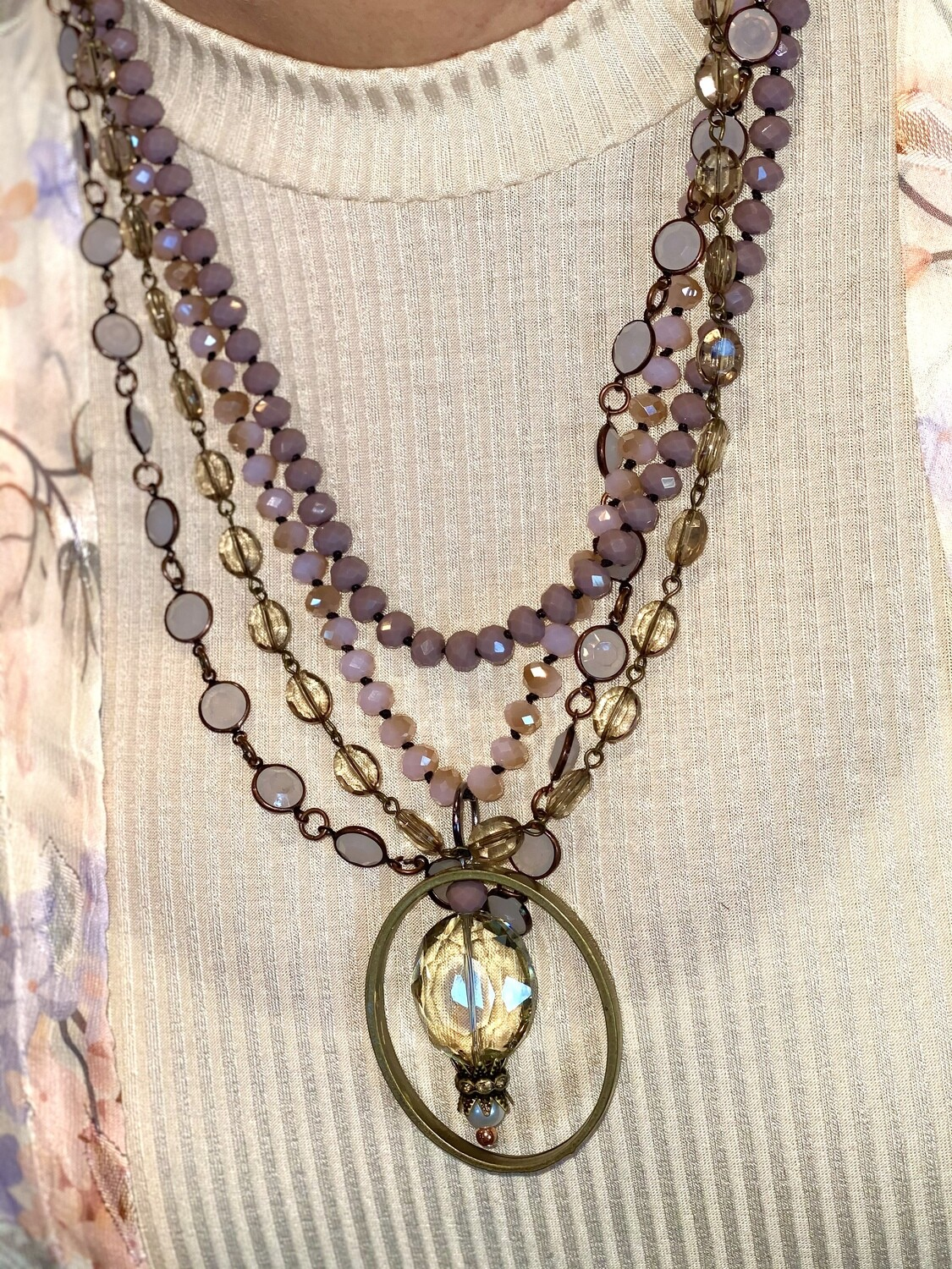 Four Strand Mixed Media Necklace