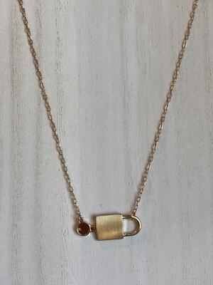 Gold Lock & Key Necklace