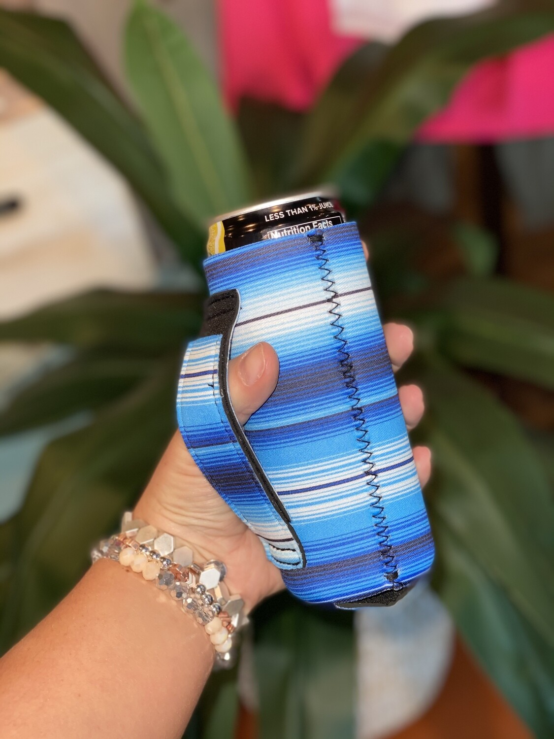 Blue Serape 12oz Slim Can Handler