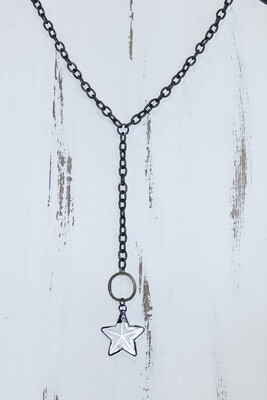 Brass Star Necklace