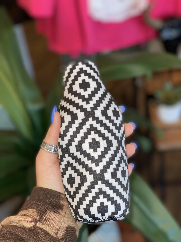 Black & White Bottle Neck Cooler