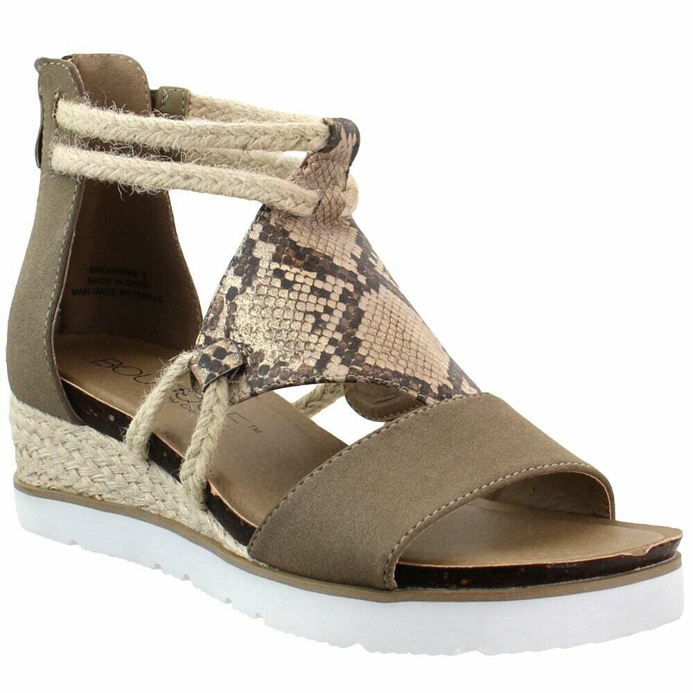 Corky's Snake Browning Platform Sandals