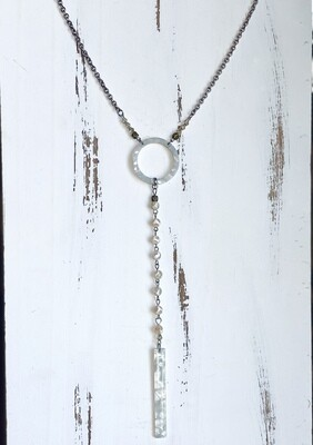 Simple Acrylic Ring Necklace