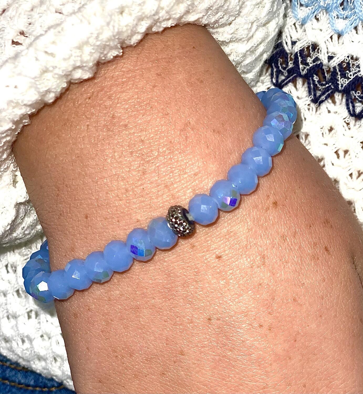 Periwinkle Sparkle Bead Bracelet
