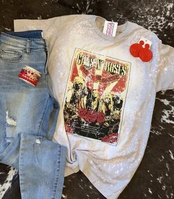 Guns & Roses Bleached Tee