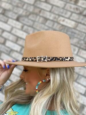 Camel & Cheetah Felt Hat