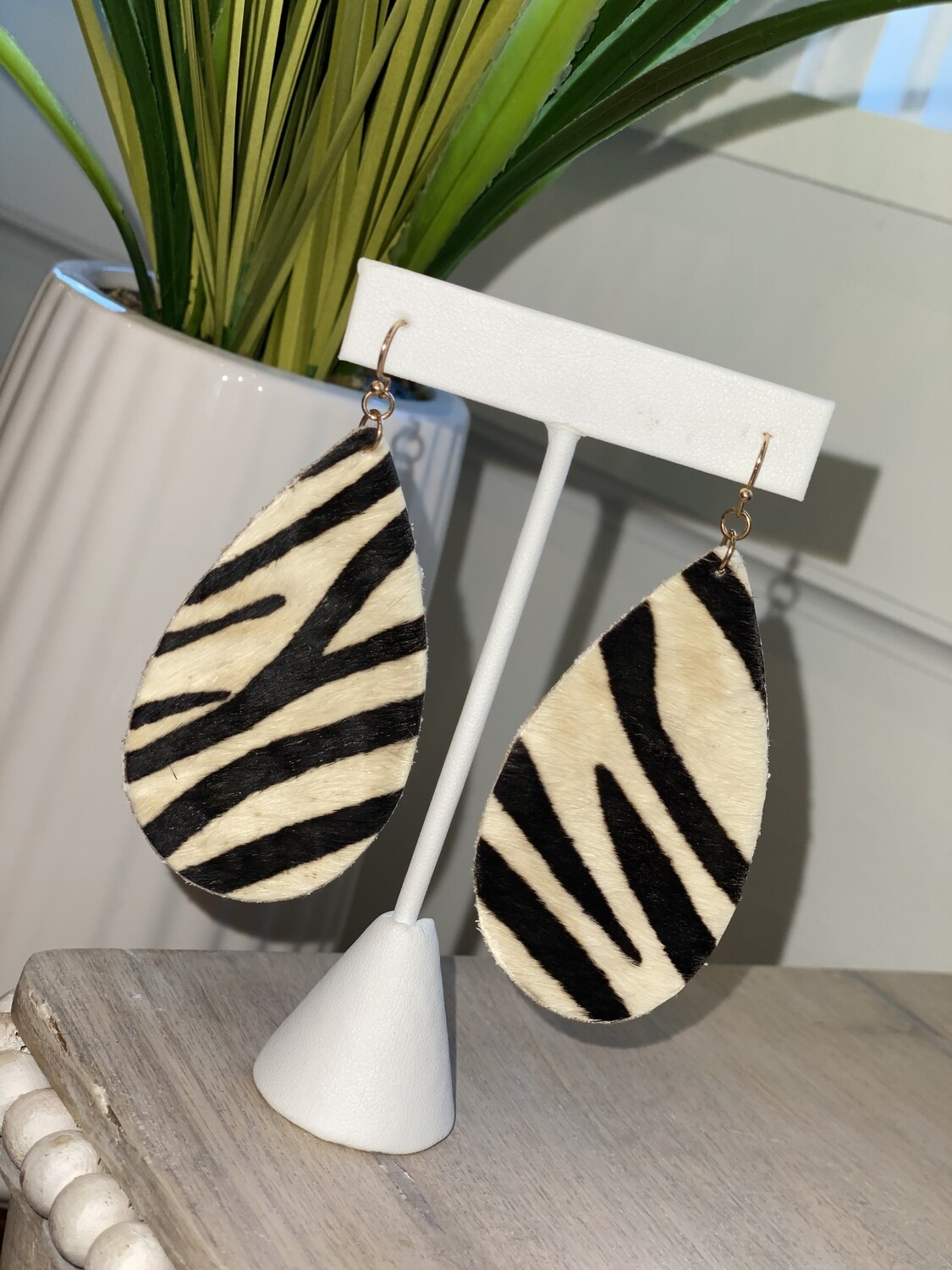 No. 3 Animal Print Leather Earrings