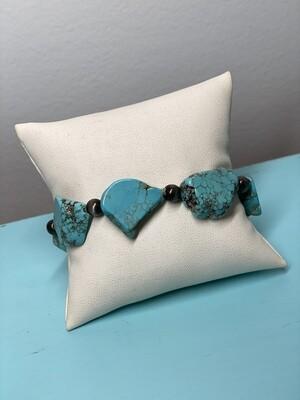 Turquoise Slab Stretch Bracelet