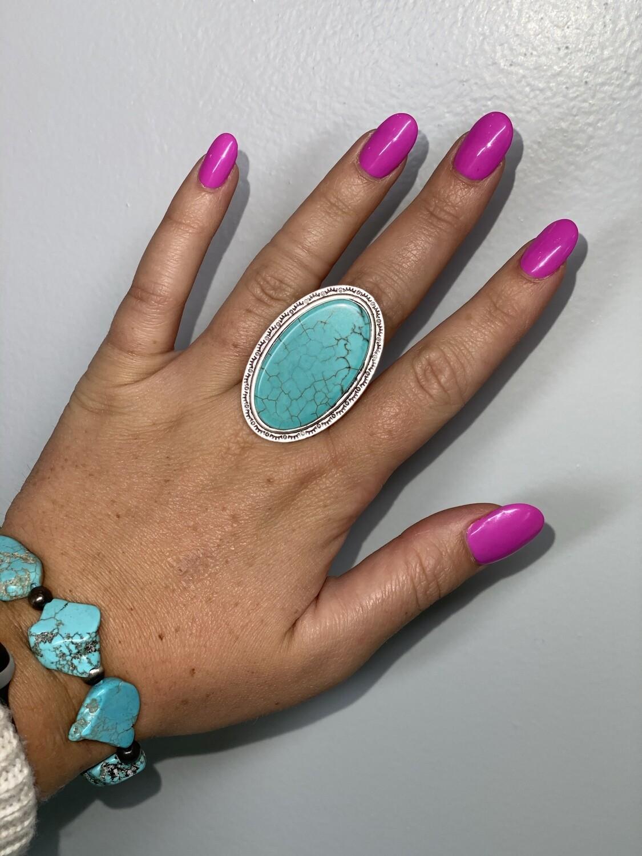 Turquoise Slab Ring
