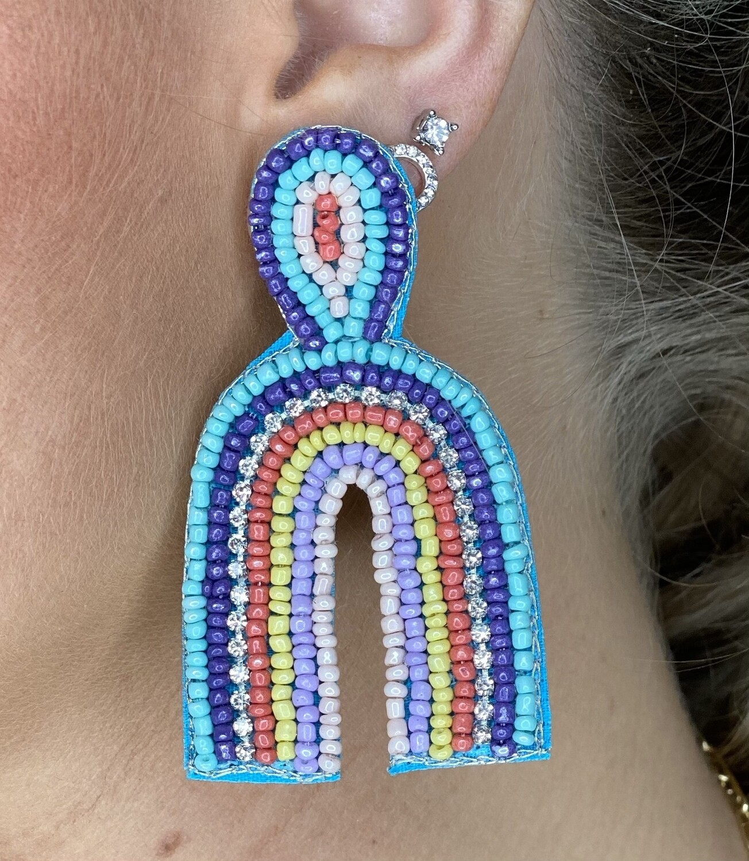 Multi Color Rainbow Earrings
