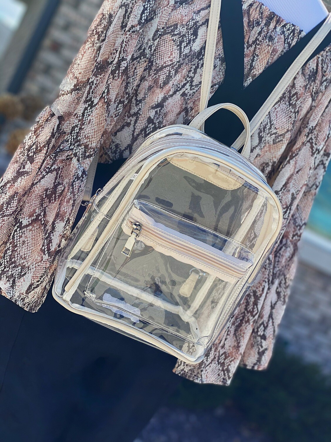 Ivory Clear Backpack