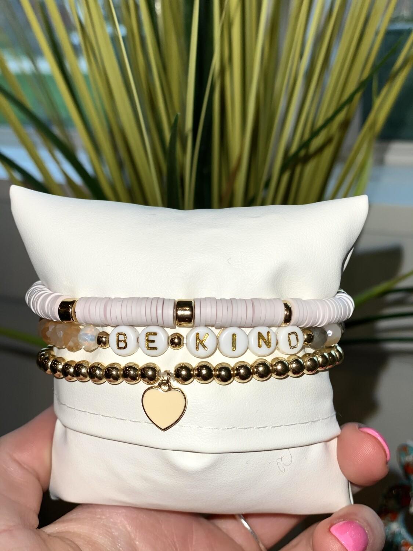 Be Kind Stretch Bracelet Set