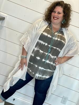 White Chiffon Kimono