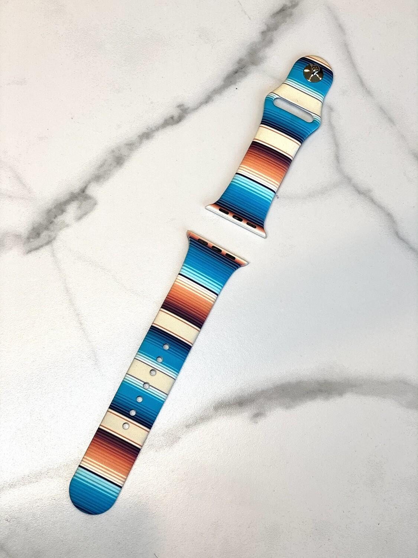Blue Serape Watch Band