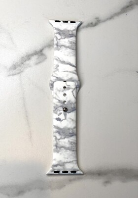 White Marble Watch Band