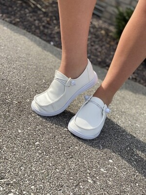 Corky's White Slip On