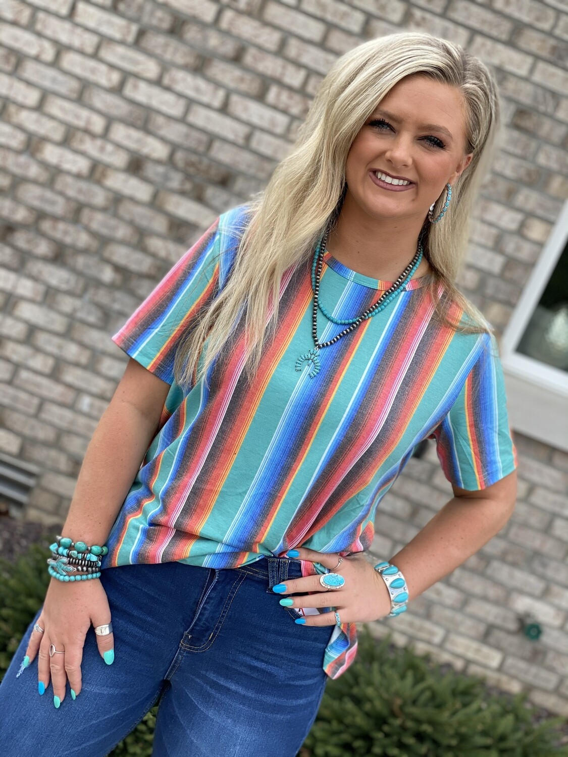 Plus Serape Top With Side Knot