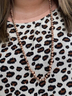 "Copper 34"" Sparkle Beads"
