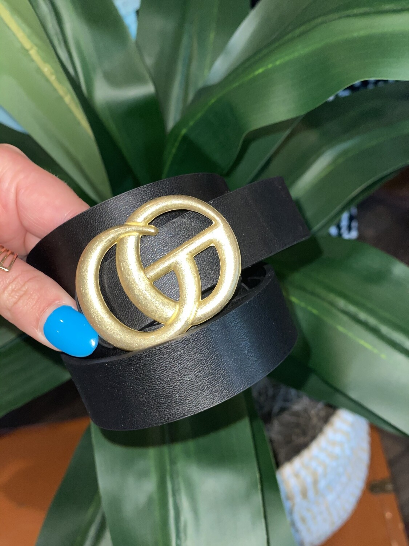 Black Matte Gold CG Belt