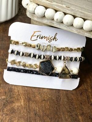 Erimish Black Razzle Dazzle Carded Stack