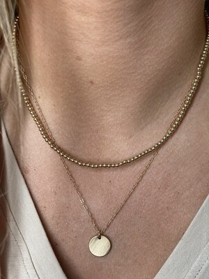 Gold Ball Chain Layered Necklace