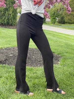 Black Ribbed Pants