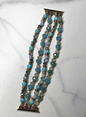 Turquoise Semi Precious Beaded Watch Band