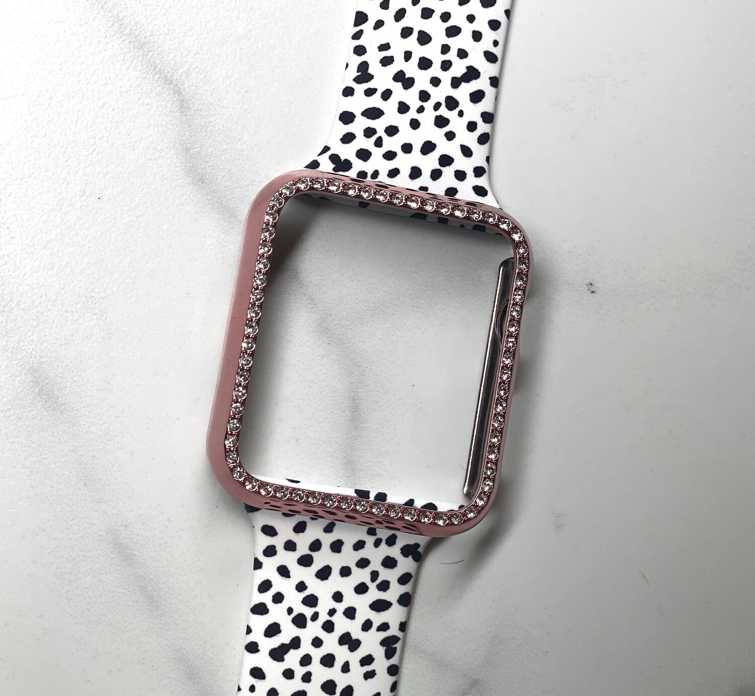 40mm Rose Gold Bling Watch Case