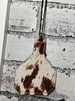 Brown Mix Tag Leather/Cowhide Car Freshener