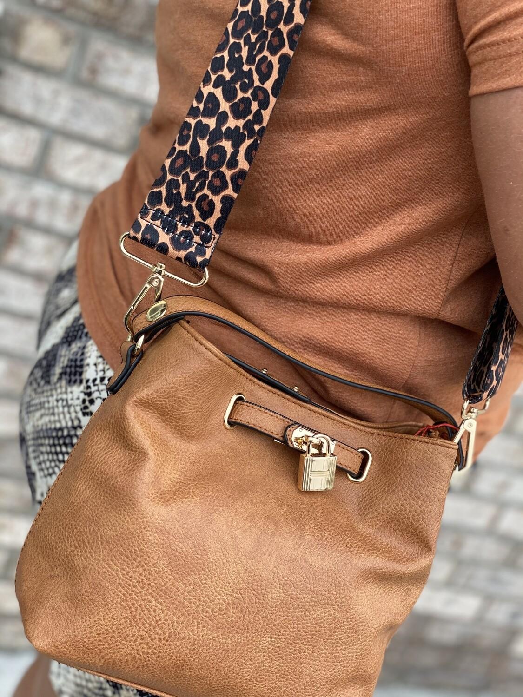 PE Small Handbag With Gold Hardware