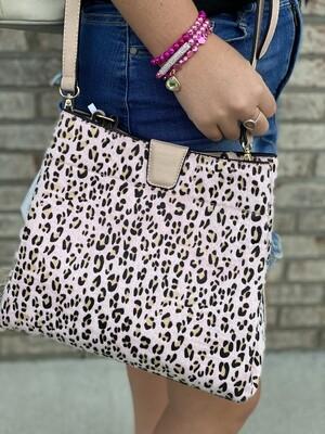 Light Blush Cheetah Handbag/Crossbody