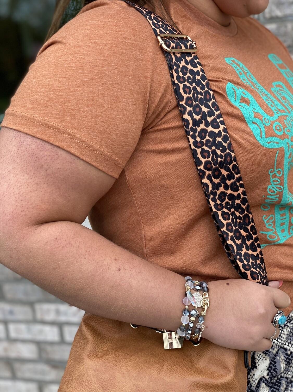 Leopard Adjustable Purse Strap