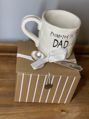 'Promoted to Dad' Baby Announcement Gift Box