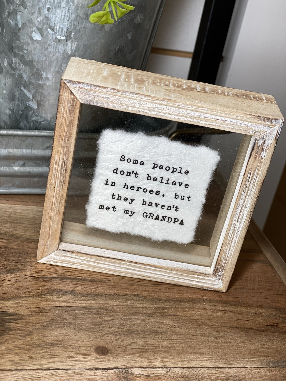 Grandpa Glass Plaque