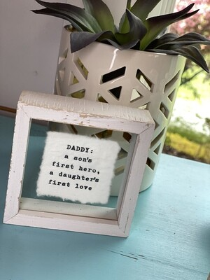 Daddy Glass Plaque