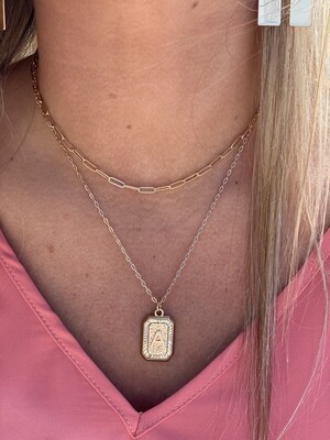 Gold Layered Initial Necklace