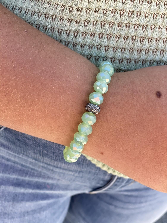 Green Sparkle Bead Bracelet