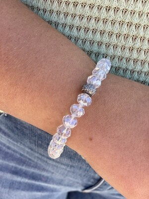 Clear Sparkle Bead Bracelet