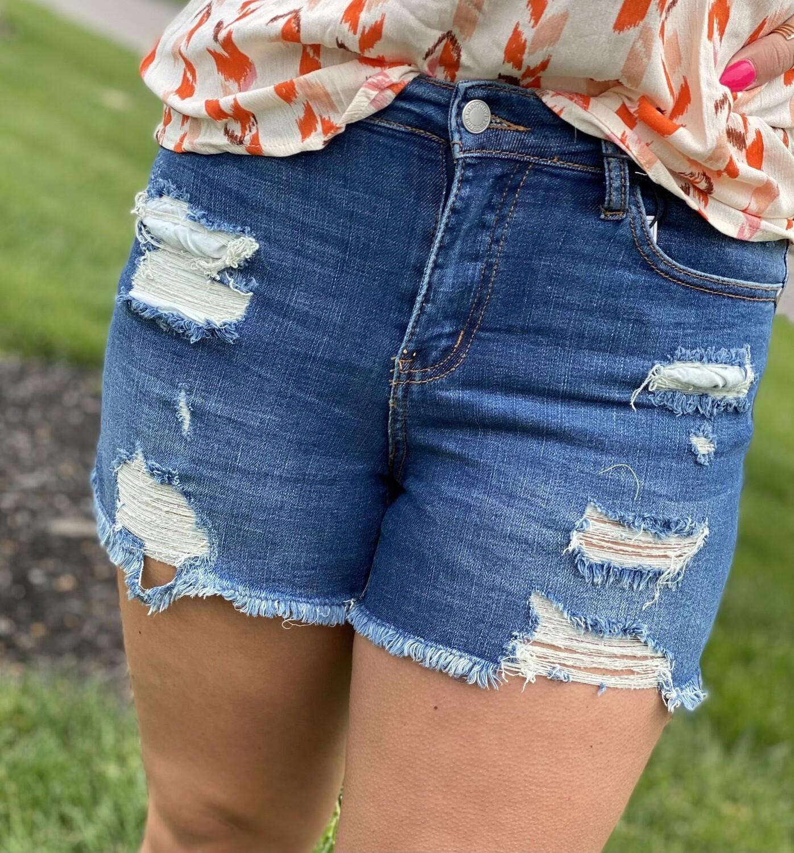 "Judy Blue 4"" Inseam Denim Shorts"