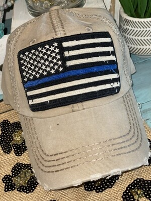Sand Blue Line Hat