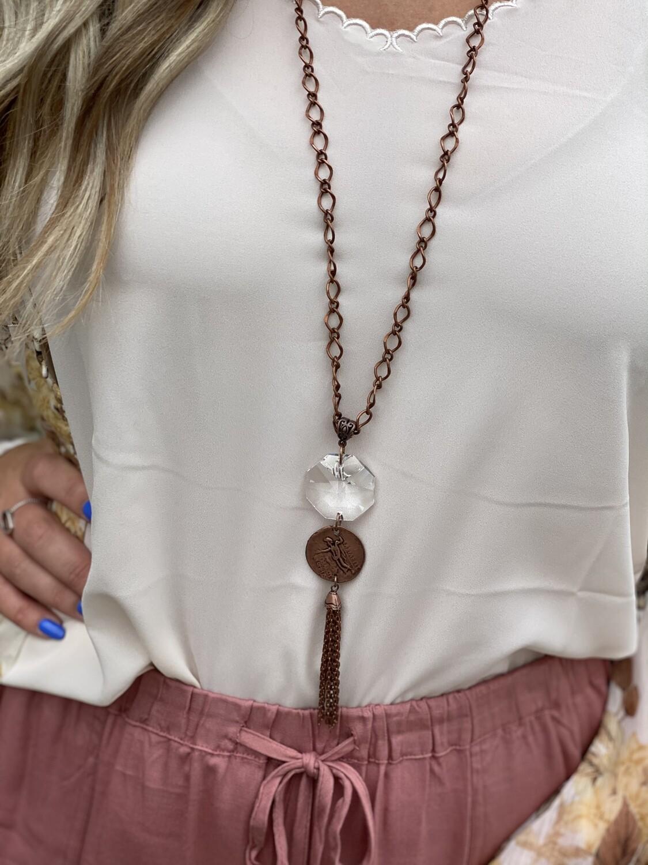 Copper Gemstone Necklace