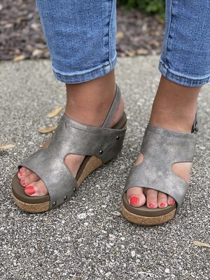 Corky's Pewter Morgan Wedge