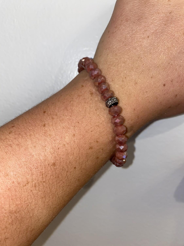 Rose Sparkle Bead Bracelet