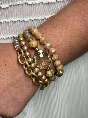 Gold Natural Bracelet Set