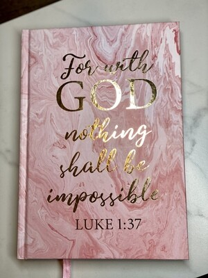 With God Nothing Is Impossible Notebook